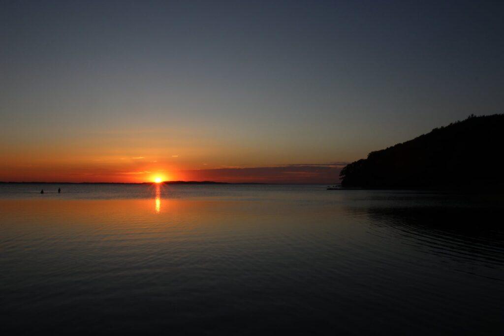 Perfekter Abschluss unserer Workcation im project bay: Sonnenuntergang auf der Insel Rügen.